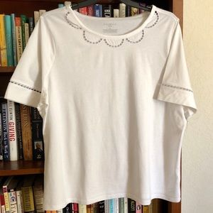 Talbots white cotton NWT short sleeve top
